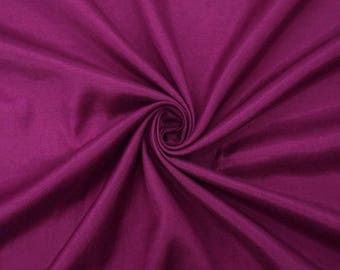 "Dark Purple Shantung Fabric, Dupioni Silk, Apparel Fabric, Ethnic Fabric, 44"" Inch Wide Fabric By The Yard ZSH2I"