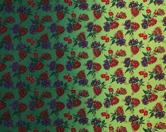 """Green Dressmaking Fabric, Floral Print, Quilting Fabric, Sewing Decor, 41"""" Inch Cotton Fabric By The Yard ZBC8946A"""