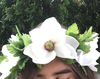 Large White Flower Crown