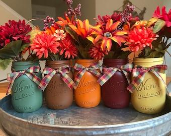 Fall Mason Jars, Fall Decor, Thanksgiving Mason Jars, Thanksgiving Decor, Fall Centerpiece, Fall Decorations, Thanksgiving Centerpiece