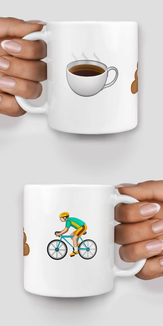 Customized emoji mug, personalise your mug with up to 5 large emojis - Christmas mug - Funny mug - Rude mug - Mug cup 4P010