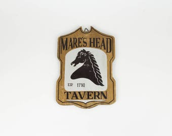 Mares Head Tavern - Vintage Bar Sign - Man Cave - Home Office - Gift for Boyfriend - Rustic Style