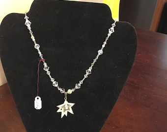 Crystal Star pendant necklace