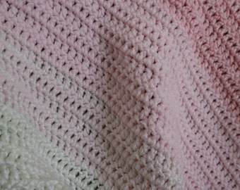 Pink Baby Blanket / Baby Gift for Girl
