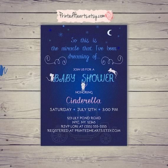 Cinderella baby shower invites stars baby shower invitation navy il570xn filmwisefo