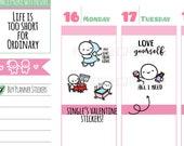 Munchkins -  Single's Valentine's Day Planner Stickers (M360)