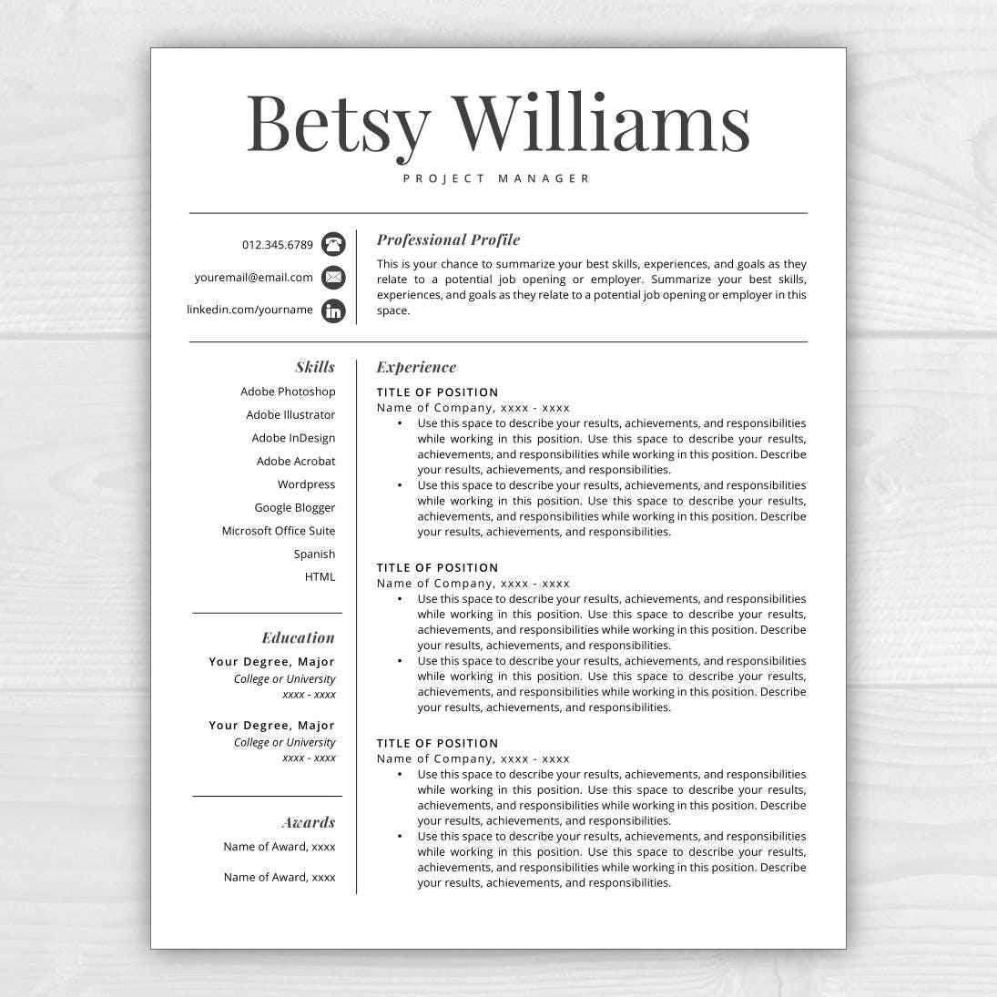resume template professional resume resumes free resume