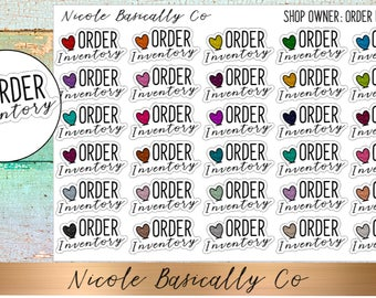 Shop Owner- Order Inventory Planner Stickers