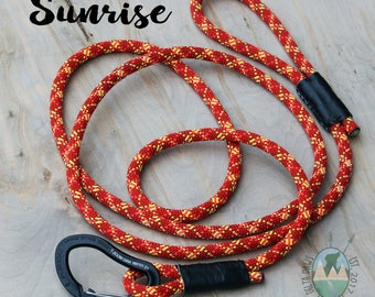 CUSTOM Sunrise Leash || Rock Climbing Rope Dog Leash || Handmade in the USA
