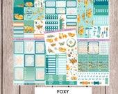 FOXY Sticker Kit & Ala carte sheets | perfect for vertical Erin Condren Life Planner |V8
