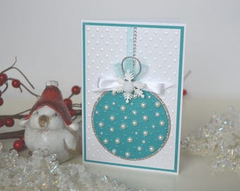 Xmas tree toy card, Merry Christmas greeting card, Christmas cards, Winter card, Seasonal cards, Christmas greeting card, Christmas wishes