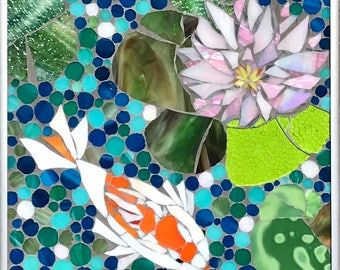 The Meditation: Stained Glass Mosaic Wall Art