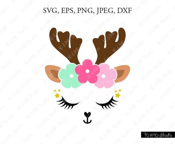 Reindeer SVG Reindeer Head Svg Reindeer Clip Art Reindeer