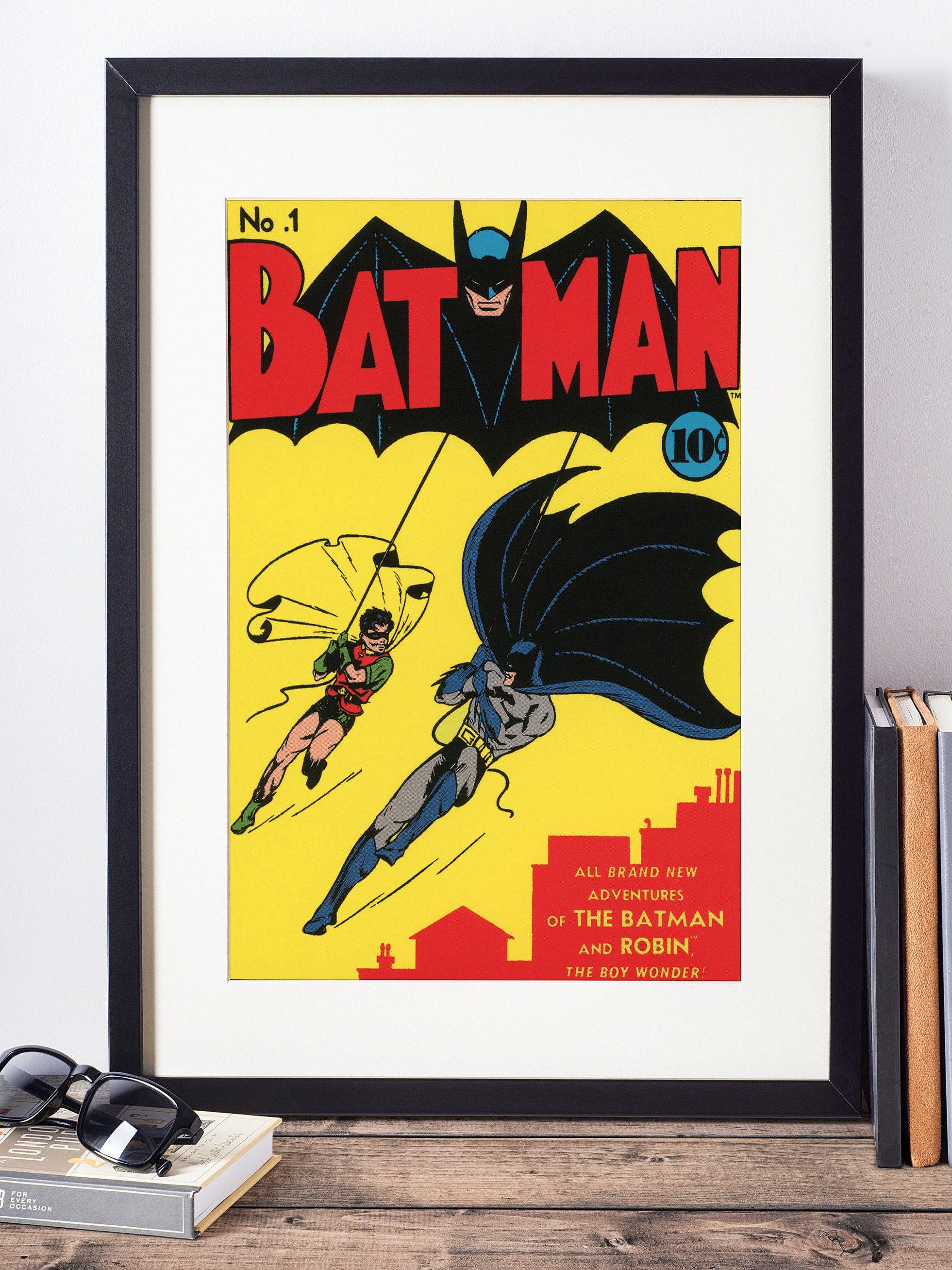 Dc Comics Wall Art Batman And Robin Cover Print Matted
