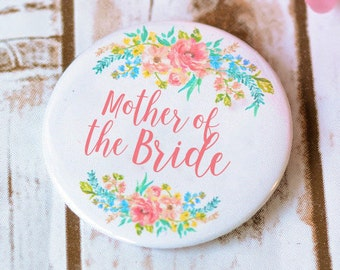 Mother of the bride Gift  Button Badge Buttons Bachelorette Party Team Bride Pins Badge button Bride Tribe Mother of the Groom