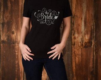 Glitter Hen Party T-Shirt - Bride