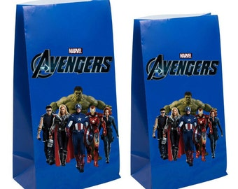 Avengers party favor gift bags ~Avengers birthday party Decorations & Decor
