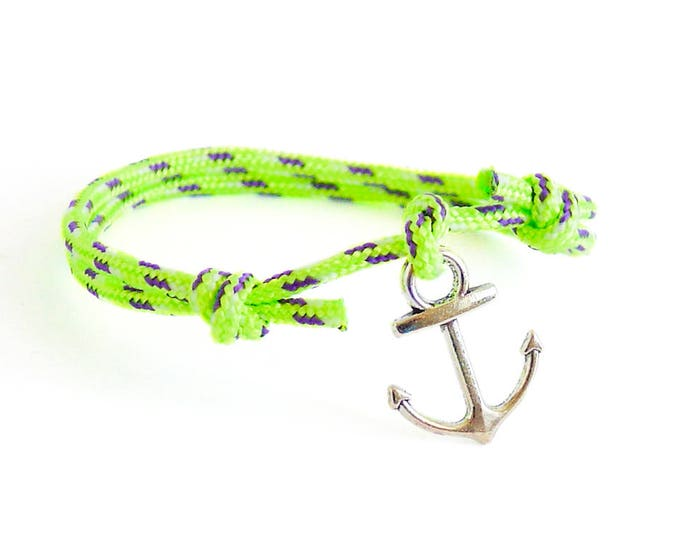 Guys Jewelry, Mens Bracelet, Men Gift - Mens Anchor Bracelet With Anchor