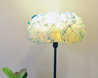 Standing Lamp, Paper Floor Lamps, Night Light, Table Lamp, Bedside Lamp, Romantic Bedroom Lighting, Rustic Bedroom Decor, Teal Desk Lamp