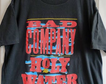Vintage 1991 Bad Company Holy Water Band Tee L Touch Of Gold Tag Made In USA