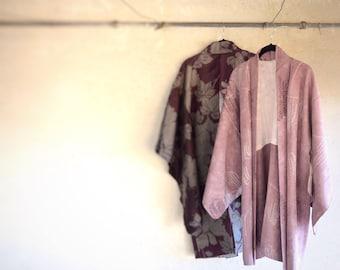 Vintage Silk Haori/ Vintage Japanese Haori/ Vintage Haori Jacket