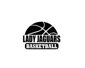 Lady Jaguars svg, Jaguars basketball svg, basketball svg, SVG, DXF, EPS, Silhouette Studio, Cut Files, Digital Cut Files, Cricut