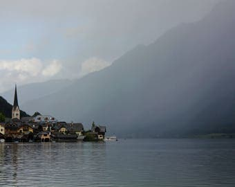 Digital Download | Photography Print | Austria Foggy Lake Travel Photography
