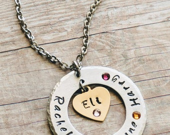 Mom necklace, Mom gift, Mom birthday gift, Family jewelry, Family necklace, personalized, Gift for mom,  Family gifts, Free Shipping