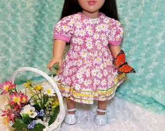 Pink Summer Dress with Daisies - American Girl & Friends