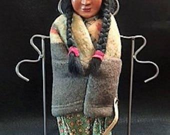 Doll- Skookum Indian Native American Bully Good Doll  c.1950's