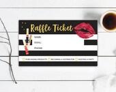 LipSense Raffle Ticket Cards, Customer Info Forms, Senegence Party, Vendor Events, Instant Download, Digital