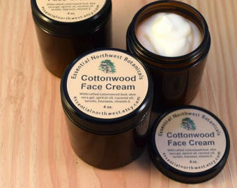 Cottonwood Face Cream - 4 oz. - Wildcrafted, Lucious and Healing