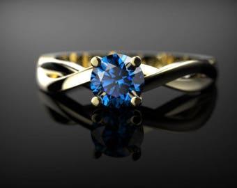 Sapphire Engagement Ring Yellow Gold Sapphire Engagement Ring Sapphire Ring Yellow Gold Yellow Gold Sapphire Ring September Birthstone