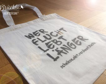 """Cloth bag / canvas bag / tote bag / bag """"Curse"""""""