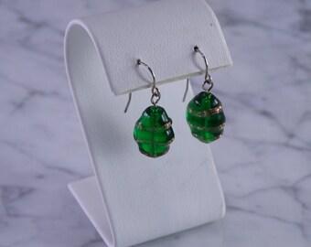 Christmas Green Earrings (pierced)