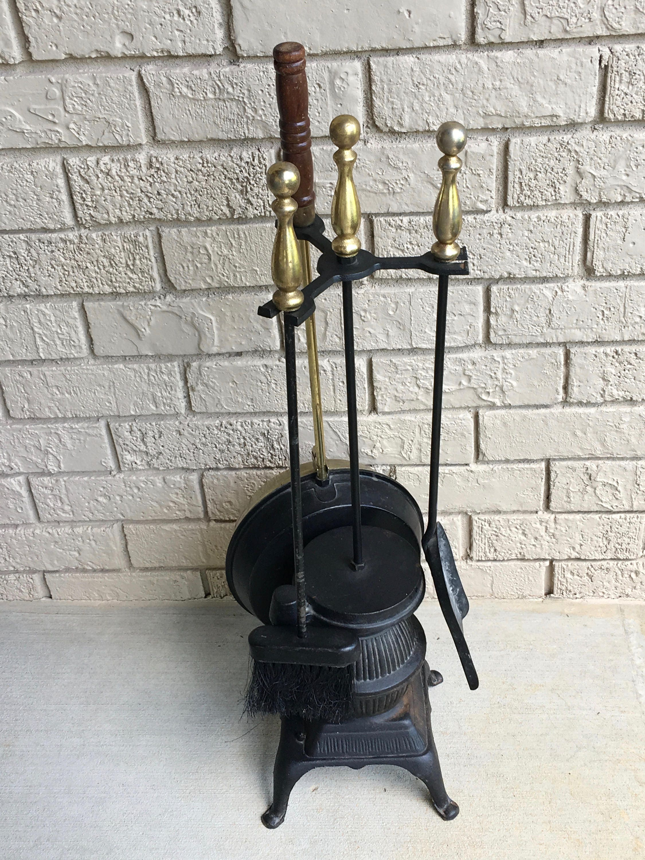 cast iron pot belly stove fireplace tools and decor bed