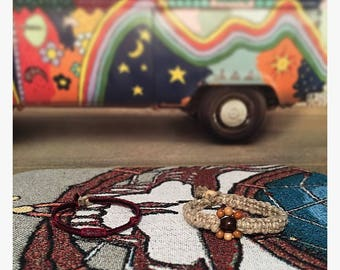 Handmade Child size yarn/hemp necklace