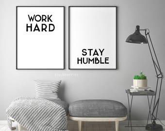 Typography wall art | Etsy