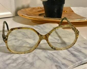 Diane Von Furstenberg CAPRI' Eyeglass Eye Tiger Color Made in France Vintage 80s