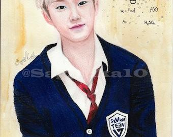 Seventeen Hoshi Fan Art Print