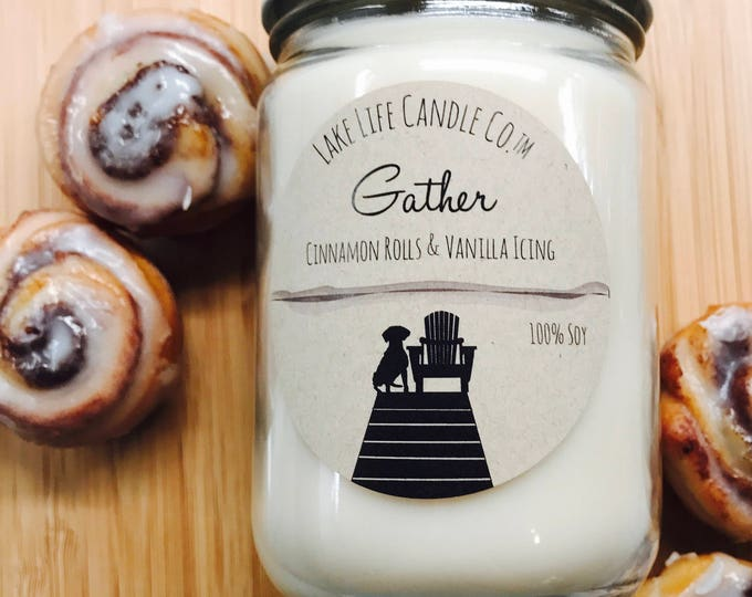 Gather  Handmade Soy Candle: Lake Life Candle Co. Made in WI