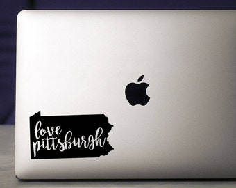 Pittsburgh / Pittsburgh Decal / Pittsburgh Sticker / Decal / Macbook Decal / Laptop Decal / Pittsburgh Pennsylvania / Vinyl Decal / Steelers