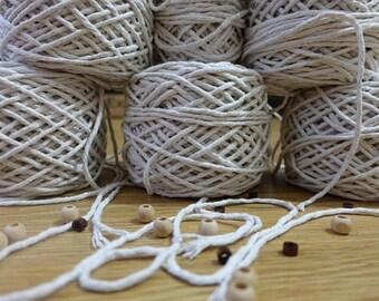 Macrame cotton cord, 6 macrame cord rolls, macrame string, natural cotton cord, macrame cotton string, 3mm macrame rope, macrame twine
