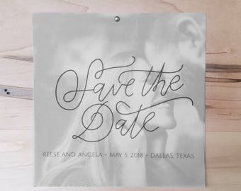 Vellum Photo Save the Date  - Custom Save the Date Design, Print or Download