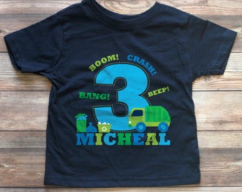 Garbage Truck Birthday Shirt - Personalized Garbage Truck Shirt - Garbage Truck Birthday - Trash Truck Birthday - Boy Birthday Shirt Custom