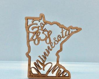 Minnesota Filigree State Ornament