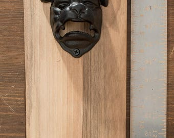 Magnetic Wall Mount Bottle Opener - Bulldog