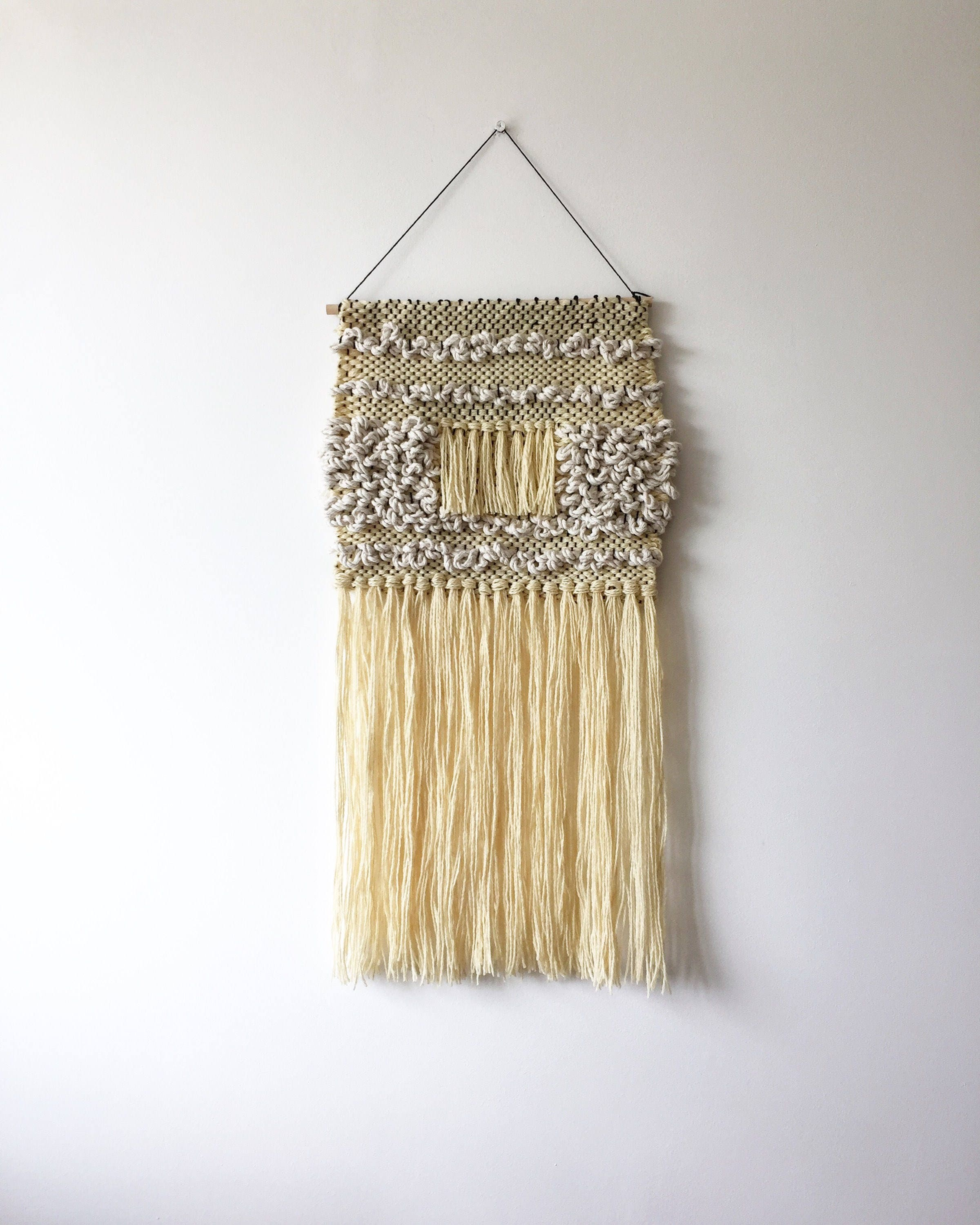 Woven Wall Hanging - Rotterdam - Neutral Beige Wall Hanging Woven ...
