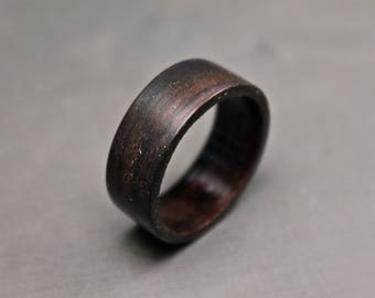 Wood Ring, Dark Spalted Ziricote Ring, Bentwood Rings, Wood Wedding Bands, Wooden Engagement Rings, Custom Bands.