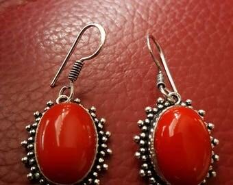 Coral Gemstone Earrings!